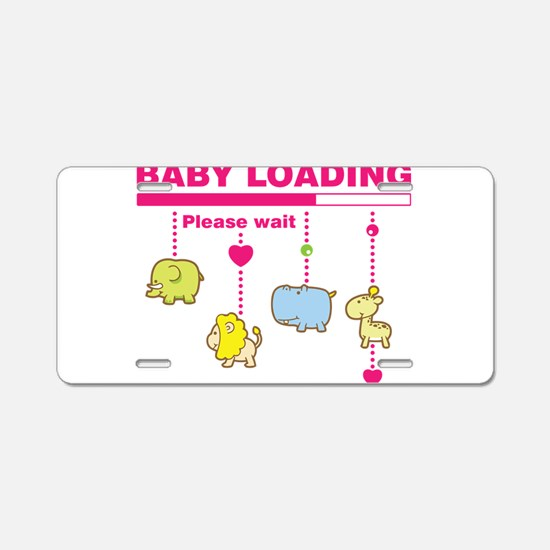 Baby girl loading Aluminum License Plate