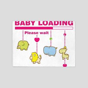 Baby girl loading 5'x7'Area Rug