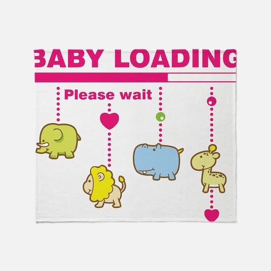 Baby girl loading Throw Blanket