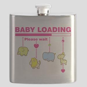 Baby girl loading Flask