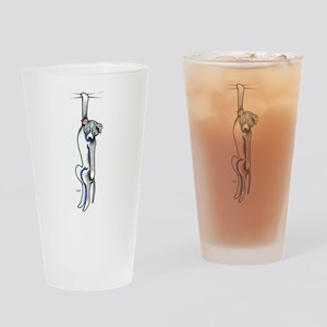 Clingy Pit Bull Drinking Glass