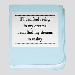Never Stop Dreaming baby blanket