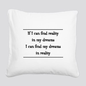 Never Stop Dreaming Square Canvas Pillow