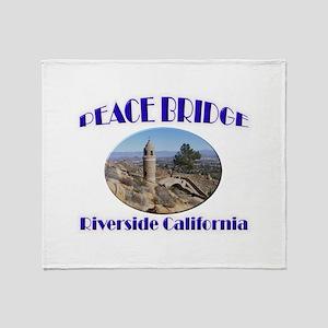 Riverside Peace Bridge Throw Blanket