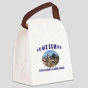 Riverside Peace Bridge Canvas Lunch Bag