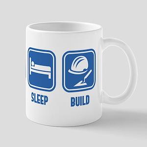 Eat Sleep Build design in Blue Mug