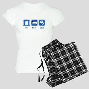 Eat Sleep Build design in Blue Pajamas