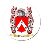 Brooker 2 Round Car Magnet