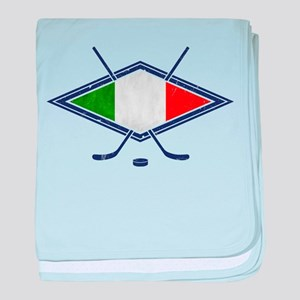 hockey su Ghiaccio Italiano Flag baby blanket