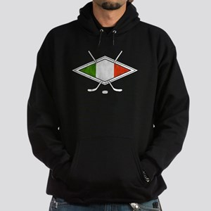 hockey su Ghiaccio Italiano Flag Hoodie