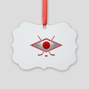 Japanese Ice Hockey Flag Ornament