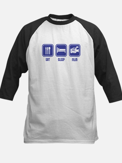 Eat Sleep Film design in blue Baseball Jersey