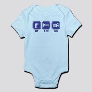Eat Sleep Film design in blue Body Suit