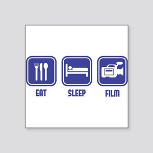 Eat Sleep Film design in blue Sticker
