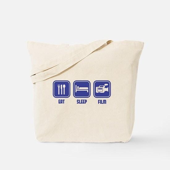 Eat Sleep Film design in blue Tote Bag