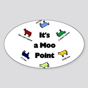 It's a Moo Point Rectangle Sticker