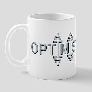 OPTIMIST -- Fit Metal Designs Mug