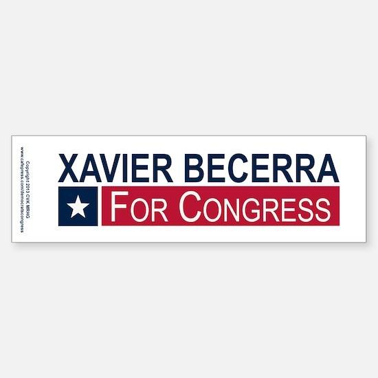 Elect Xavier Becerra Sticker (Bumper)