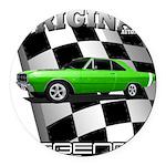 Musclecar Top 100 Dart Round Car Magnet