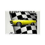 New Musclecar Top 100 1970 Rectangle Magnet (100 p