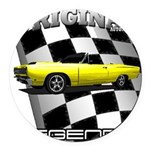 New Musclecar Top 100 1970 Round Car Magnet