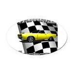 New Musclecar Top 100 1970 Oval Car Magnet
