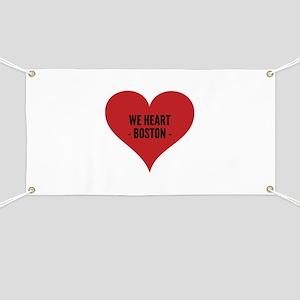 We heart Boston. Banner