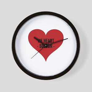 We heart Boston. Wall Clock