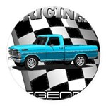 New Musclecar classic truck 1970 Round Car Magnet