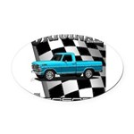 New Musclecar classic truck 1970 Oval Car Magnet