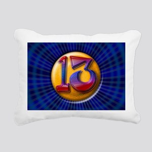 Lucky 13 Rectangular Canvas Pillow