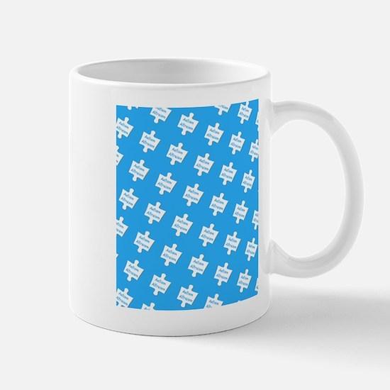 Blue Practice Autism Altruism Designer Mug