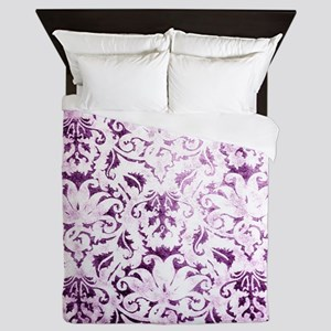 Brocade purple Queen Duvet