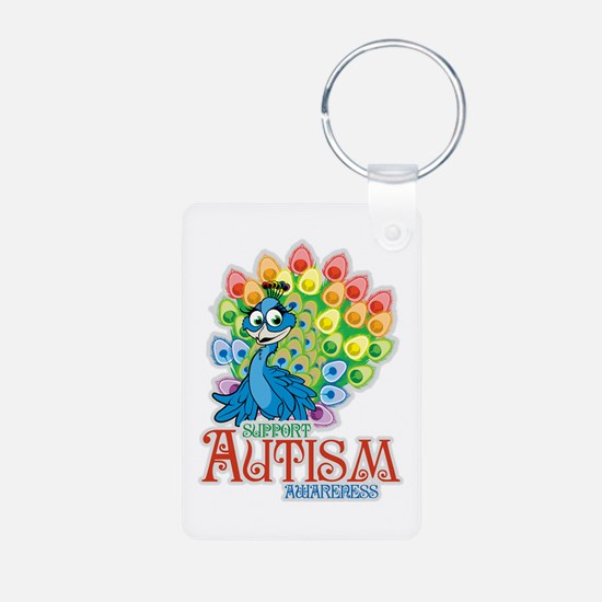Autism Peacock Keychains