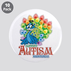 "Autism Peacock 3.5"" Button (10 pack)"