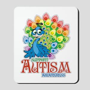 Autism Peacock Mousepad