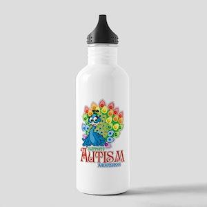 Autism Peacock Water Bottle