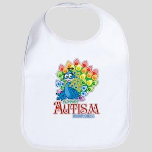 Autism Peacock Bib