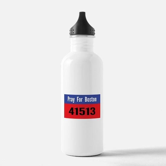Pray for Boston marathon number Water Bottle