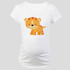 Cute Little Tiger Maternity T-Shirt