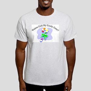 Wanna Lick My Candy Cane? (Ga Ash Grey T-Shirt