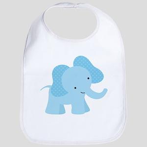 Cute Little Blue Elephant Bib