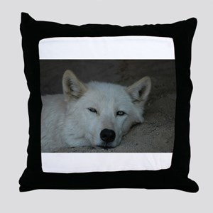 """""""Wolves love Naps too!"""" Throw Pillow"""