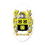 Brogi Oval Car Magnet