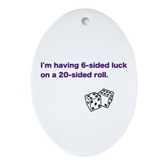 6-Sided Luck Oval Ornament