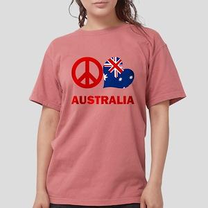 Peace Love Australia Womens Comfort Colors Shirt