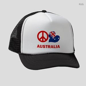 Peace Love Australia Kids Trucker hat