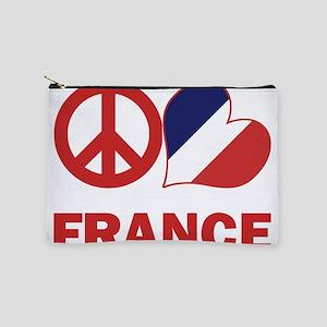 Peace Love France Makeup Pouch