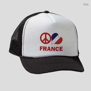 Peace Love France Kids Trucker hat