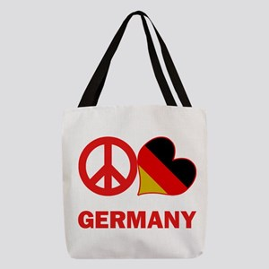 Peace Love Germany Polyester Tote Bag
